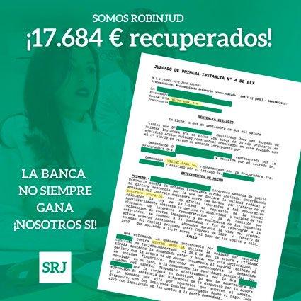 recuperados 17684 euros