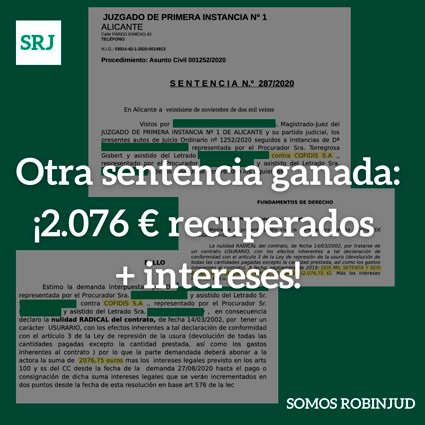 recuperados 2076 euros mas ntereses
